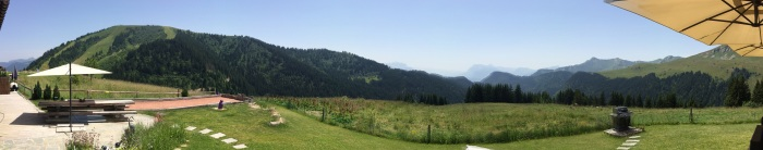 Panoramic views from the terrace at Alt. 1490 Exclusif