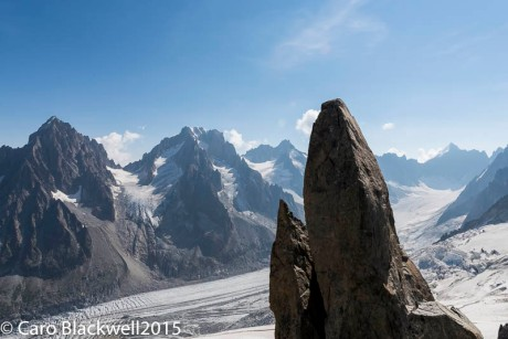 View of The Argentiere Glacier from the top of Les Grands Montets